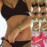 2017 Women Bikini Set Push-up Padded Bra Swimsuit Swimwear Triangle Bathing Suit