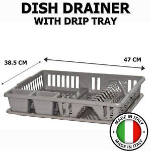Dish Drainer Dry Rack Plate Bowl Cutlery Sink Holder Storage Dryer Tray Talpa