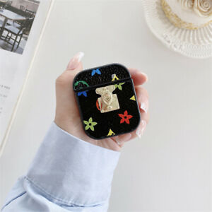PU Floral Flower protect cover Case Earphone Charger for Apple airpods 1 2 3 pro