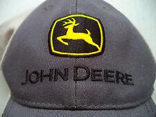 Mens John Deere hat baseball cap tractor farm machinery plow