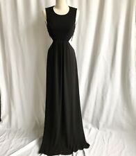 a5a6d25f1a35 BCBG Maxazria Black Cut Out Hatchet Back Floor Length Maxie Gown Dress Size  2