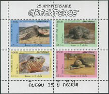 LAOS Bloc N°136A ** Bf tortues de mer 1997 , turtles Sheet Sc#1304A-D MNH