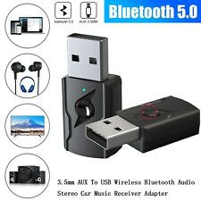 4 In 1 Bluetooth 5.0 Audio Transmitter Receiver 3.5mm Aux RCA Audio Adapter RA