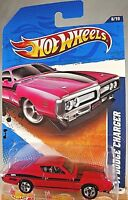 2011 Hot Wheels #108 Muscle Mania 8/10 '71 DODGE CHARGER Pink Variant w/5 Spokes