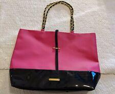 Juicy Couture Womens Large Purse Designer Handbag Pink And Black