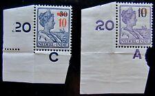 N-I NVPH 228 - 229 Hulpuitgifte 1937 postfris met hoekstukken CW 15,- (+)