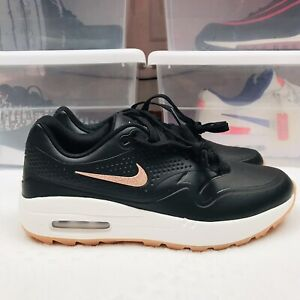 Nike Air Max 1 G Golf Shoes Black Bronze Gum AQ0865-002 Women's Size 8.5 New