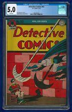 1944 Detective Comics #93 Golden Age Batman D.C. Comics 5.0 CGC