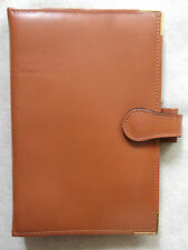 File Organiser Leather NEW PICCADILLY TAN BROWN STANDARD PERSONAL  25mm Diameter
