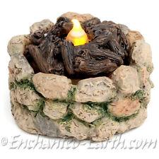 One Miniature/Fairy Garden Woodland Fire Pit with a flicker LED tea light /Fire