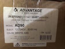 NEW American Dryer Advantage Standard Hand Dryer - White (AD90-M)