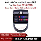 9  Android 10.1 Car Stereo Media Player GPS Head Unit For Kia Soul 2010-2013