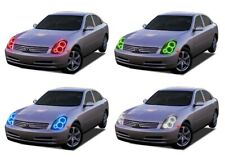 LED Headlight Halo Ring RGB Multi-Color Kit for Infiniti G35 03-04