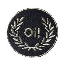 Embroidered Oi Laurel Sew or Iron on Patch Biker Patch