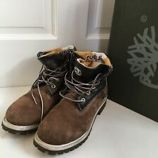 TIMBERLAND Boots Walking Shoes Mens Size UK 6.5 Brown Suede Leather Lace Up