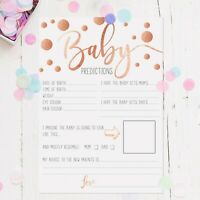 Baby Shower Games Prediction/Advice Cards A5 Rose Gold Polka Dot Boy/Girl/Unisex