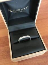 Hallmarked Platinum - 1/2Ct Bar Set Round Diamond Eternity Ring