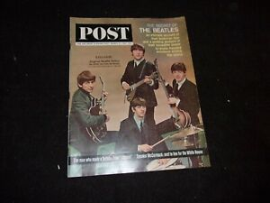 VINTAGE MARCH 1964 THE BEATLES SATURDAY EVENING POST MAGAZINE