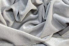 Dance Costume Fabric Light Grey Glitter STRETCH VELVET 50cm X 150cm wide