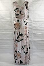 Calvin Klein Womens Maxi Dress Floral V-Neck Jersey Pink Size 8 MSRP $119 NWT