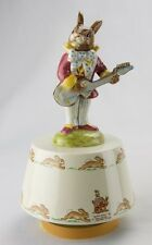 Royal Doulton Bunnykins Mr Bunnybeat Music Box Carousel-Hey Jude-Beatles-New!