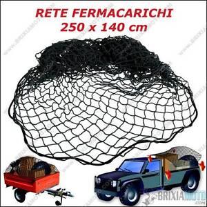 LOAD NET RETE FERMA CARICHI 250X140CM BAGAGLI TRASPORTO CARRELLO CASSONE PICK UP