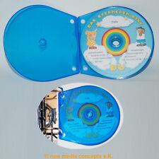 PP Shell Cajas Funda para CD / DVD´S Azul 10 piezas