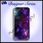 For Apple iPhone 5 case hard cover Art Collection Purple Galaxy 30