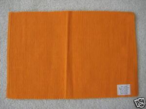 "Four 13"" x 19"" Orange rib cotton placemats customization"