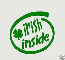 IRISH INSIDE decal sticker car Laptop PC  4 Leaf clover