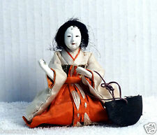 "Antique 3.75"" Pre-1912 Asian Japanese Lady-in-Waiting Hina Doll  AAD4161415f"