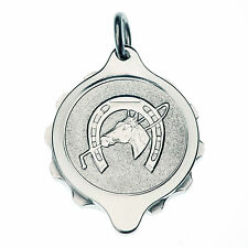 SOS Talisman Stainless Steel Medical Pendant - Horse / Horseshoe