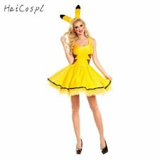 Halloween Pikachu Costume Women Fancy Dress Sexy Cute Anime Cosplay Party  Wear