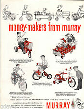 1959 PAPER AD Murray Pedal Car Farm Tractor Fire Truck Bicycle