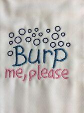 """Burp Cloth - """"Burp Me, Please"""" - 16.5in x 12in - 100% Cotton"""