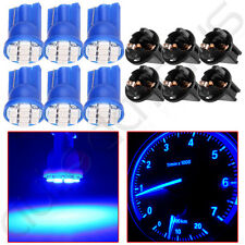 6x T10 Blue PC194 LED Bulb Instrument Panel Cluster Dash Light+Twist Lock Socket