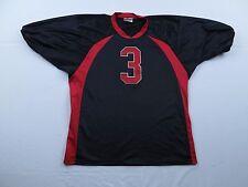 Teamwork Athletic Apparel ZIG ZAG Football Jersey Sz L Black Red USA Made Swag