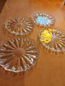 1960 Jahre schöne Bleikristall Glasuntertellerchen