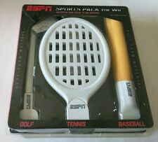 "ESPN Sports Pack for Wii - Golf, Tennis, Baseball  ""NEW"""