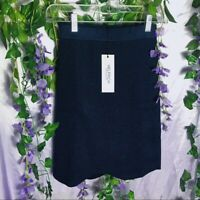 Helfrich LA Navy Blue Ribbed Glitter body skirt sz Sm