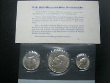 More details for usa 1776 - 1976 bicentennial silver unc 3 coin set: quarter, half & $1 dollar