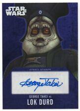 2016 Star Wars Evolution Autographs Purple George Takei as Lok Durd Auto 03/25