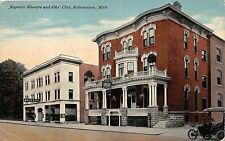 A97/ Kalamazoo Michigan Mi Postcard c1910 Majestic Theatre Elks Club Building