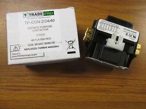 NEW Trade Pro Definite Purpose Contactor 2P, Cat# TP-CON-2/24/40 .. WQ-146