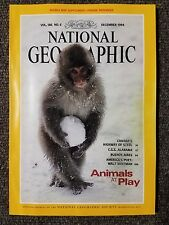 National Geographic Magazine December 1994 With Map of Praire Provinces,  Animal