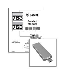 Bobcat 763, highflow G-Series Skid Steer Workshop Service Repair Manual USB Stik