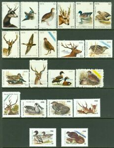 EDW1949SELL : AUSTRALIA Collection of Fish & Wildlife stamps Cplt 1973-78 + 1980