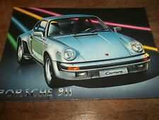 1 PORSCHE 911 CARRERA POST CARD- UNUSED-   - 17 X 12 CM