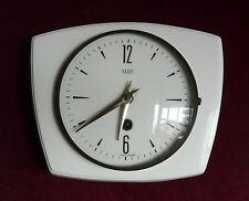 Vintage Retro BADUF White Ceramic Kitchen Wind up Mechanical Wall Clock 1960's