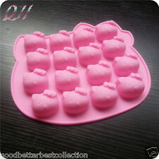 16 Holes/Pcs Hello Kitty Silicone Candy Chocolate Cake Cookie Cupcake Soap Mould